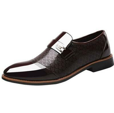 New Mens Breathable Leather Shoes Hollow Out Slip On Loafers Formal Office Dress