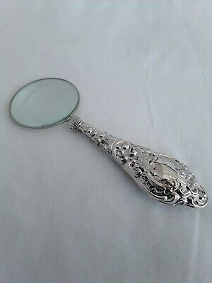 J & R Griffin Solid Silver Magnifying Glass Hallmarked Chester 1908