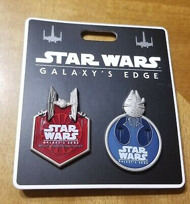 Disney D23 Expo 2019 Star Wars Galaxy's Edge SWGE 2 Pin Set