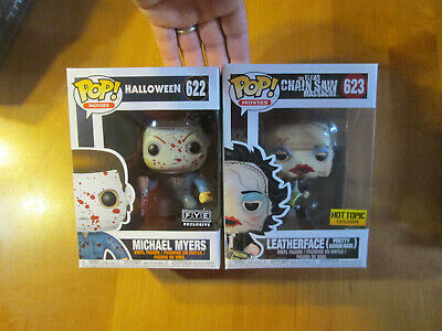 Funko Pop Leatherface Pretty Woman Mask + Michael Myers Hot Topic Fye Lot Horror