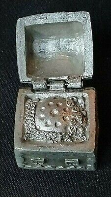 Danbury Mint Treasure Chest Lid Opens Conservation T C C Souvenir Pewter Thimble