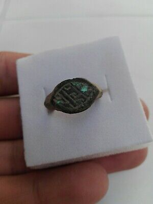 Bronze Ring Roman Ancient Rare Mm Ad Old Authentic Artifact Very Beautiful