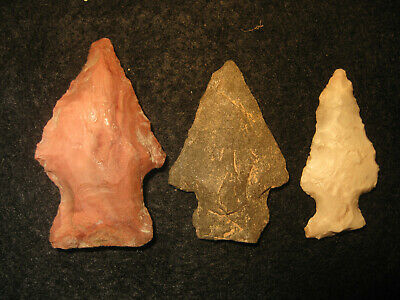 Authentic Oklahoma Missouri Prehistoric Arrowheads, Archaic Indian Artifacts OM2