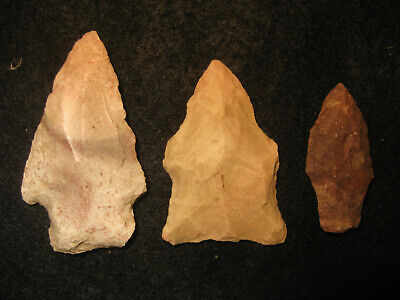 Authentic Oklahoma Missouri Prehistoric Arrowheads Archaic Indian Artifacts #OM5