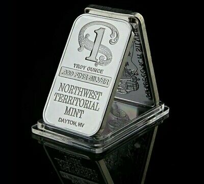 1 Troy Ounce Silver Northwest Territorial Dayton Bullion Ingot