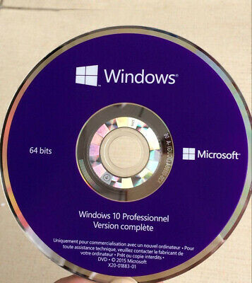 📀 DVD WINDOWS 10 PRO PROFESSIONEL 64BIT Français VENDU SANS LICENCE !