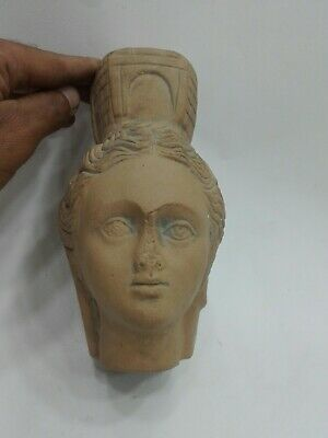 Style Roman Tyche Face Head Ancient Intaglio Artifact Antique Handmade sculpture