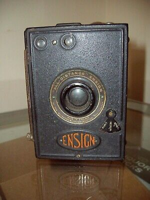 """Vintage 1930s Ensign """"All Distance"""" Box Camera - Nice Collectable British Camera"""