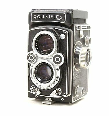 ROLLEIFLEX TLR Camera WIth Carl Zeiss 75mm Lenses  - B29
