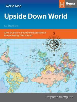 World political upside down in envelope by Maps Staff Hema (English) Paperback B