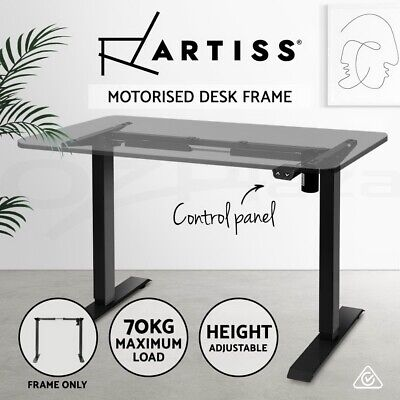 Artiss Standing Desk Height Adjustable Sit Stand Motorised Electric Frame Only