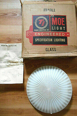 Nos~Atomic Mid-Century Modern Glass Recessed Ceiling Light Shade~Moe Light