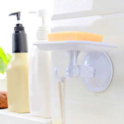 Plastic Suction Box Dish Holder Bathroom Cup Soap Toothbrush Holder