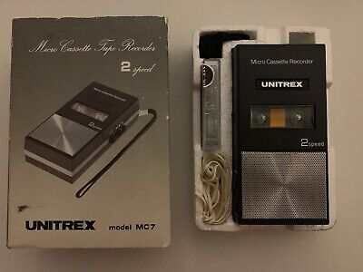 Vintage Unitrex Micro Cassette Tape Player Recorder Model MC7 Made In Japan