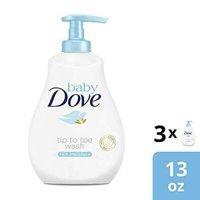 Baby Dove Rich Moisture Tip to Toe Wash and Shampoo 13 Fl Oz (Pack of 3)