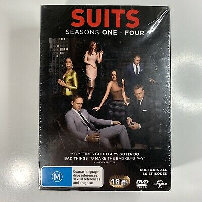 SUITS Season One - Four 1 2 3 4 DVD -  Region 4 Box Set NEW & SEALED