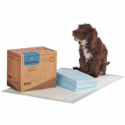 Milo & Misty 50 Puppy Training Pads X-Large 60 x 90cm Dog Pet Cat Toilet Trainer