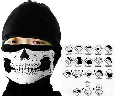 Skull Face Mask Biker Skeleton Ghost Balaclava Call Of Duty Cod Game Bl