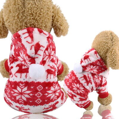 Dog Puppy Pet Cat Merry Christmas Party Cute Velvet Clothes Red Elk Warm Apparel