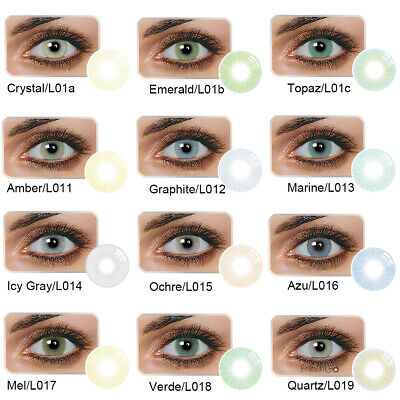 1 Pair Unisex Charm Big Eye Makeup Cosmetic Colour Contact Lenses Beauty Bello