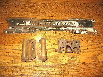 ☆☆3 Lot of unusual old Spring Loaded Door Hinges, especially strong, RARE☆☆