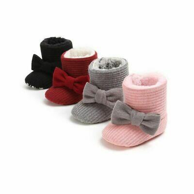Winter Baby Girls Warm Snow Boots Nonslip Toddler Shoes Infant First Walkers Kid