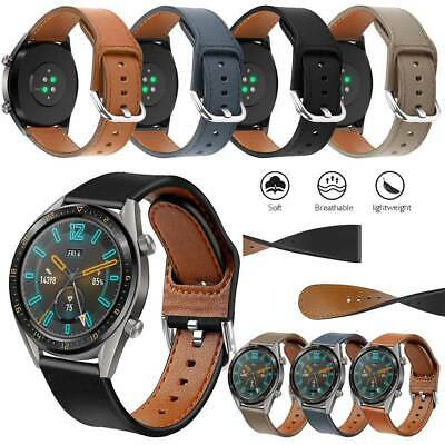 22/20mm Unisex Luxury Quick Removal Strap Genuine Leather Wrist Watches Band L/S