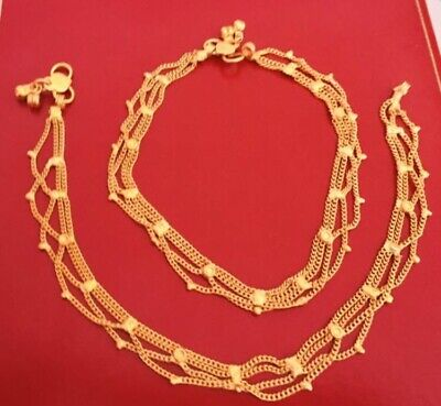 22 ct indian// Pakistan gold plated Anklets //payal Chain