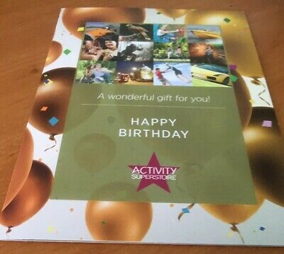 Activity Superstore happy .birthday gift card value £49