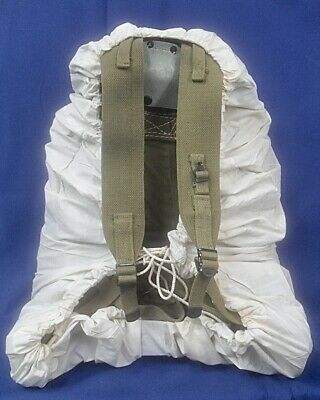 1943 WW2 US Army Rucksack 10th Mountain Troops Backpack w/ Snow Camo Cover NOS