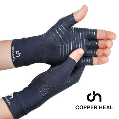 COPPER HEAL Arthritis Compression Gloves (PAIR) Highest Copper Infused Content