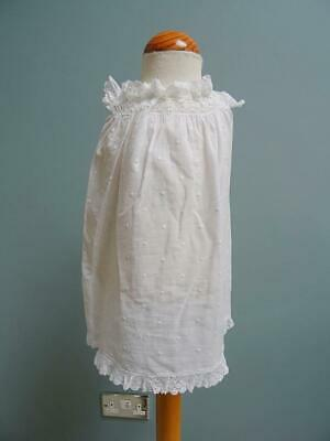 Antique Pinafore Pinny Young Girls Victorian White Cotton Crochet Lace c1890