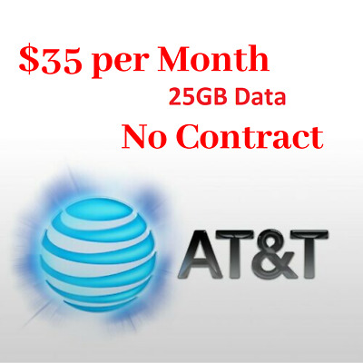Unlimited 4G LTE AT&T Data Plan No Contract $34.99 / Month Hotspot / Tablet