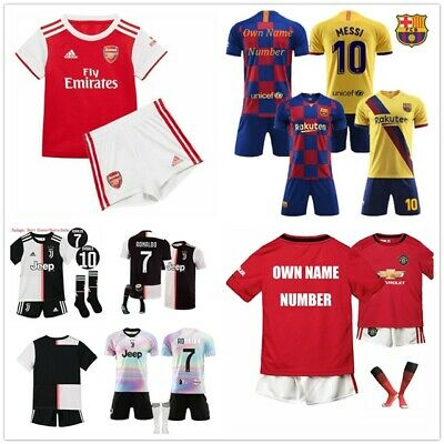 19/20 Football Kits Soccer Suits Kids Adults Jersey Strip Sports Outfit Tops