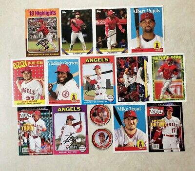 2019 Topps Archives ANGELS MASTER TEAM SET 13 CARDS + 2 COINS Mike Trout Inserts
