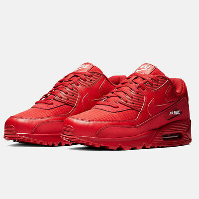 AIR MAX 90 Mens Womens Red Sports Trainers Classic Sneaker Running Shoes