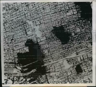1945 Press Photo WWII aerial view of Tokyo after bombing - nemo17518