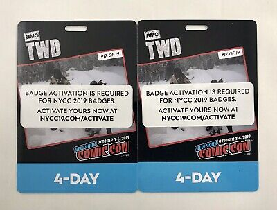 IN HAND New York Comic Con 4 Day Pass NYCC 2019 Javits NYC Badge Ticket SOLD OUT
