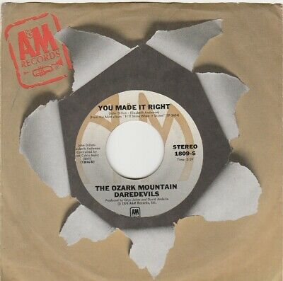 Ozark Mountain Daredevils-You Made It Right-Usa A&M Label 45-Excellent/Nm