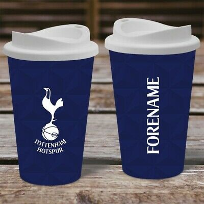 Personalised Tottenham Hotspur Travel Mug - Insulated Spurs Coffee Flask Cup