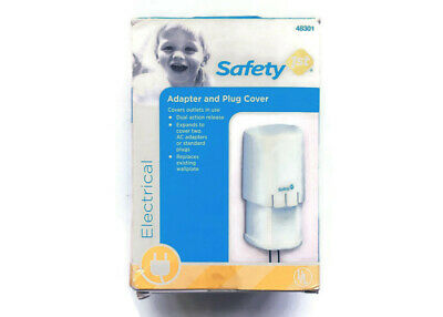Safety First Adapter and Plug Cover Covers Outlets in Use