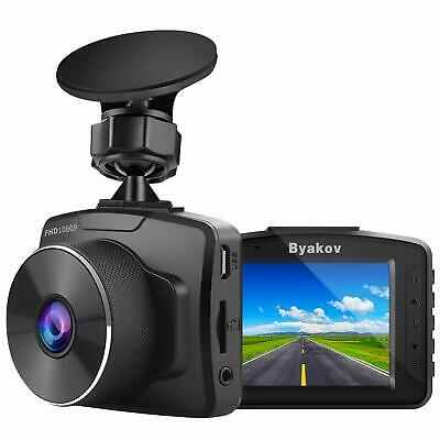 Byakov Upgraded Dash Cam, 2 inch LCD Screen Two Megapixels Real 1080P Full HD