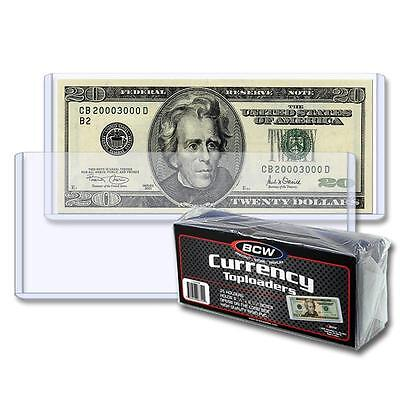1 Pack of 25 BCW 6.5 x 3 Currency Dollar Bill Topload Holder Storage Protection