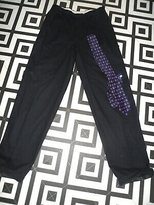 "Mens 80S Does -50S Vntge Trousers Gc Goodwood 32"" Rockabilly Turnups Pleats"