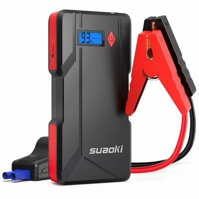 Suaoki P6 Car Jump Starter 800A Peak Current with Smart Jump Leads as 15000mAh