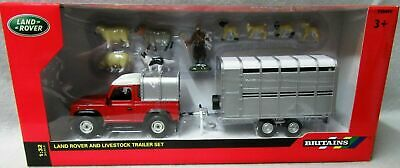 Tomy Britains Land Rover Sheep Farmer Farm Animals Play Set Toy 1:32 Scale New
