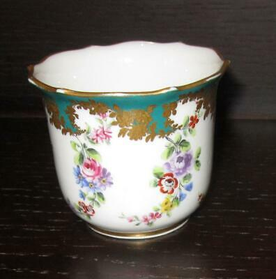 Antique 19th Century French SEVRES Style Porcelain Small Mortier / Beaker