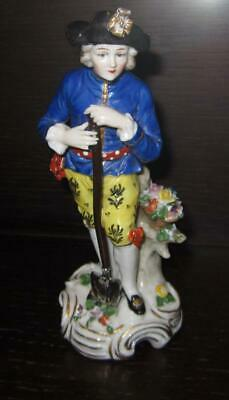 19th Century Continental Chelsea Style Porcelain Figure - French Samson