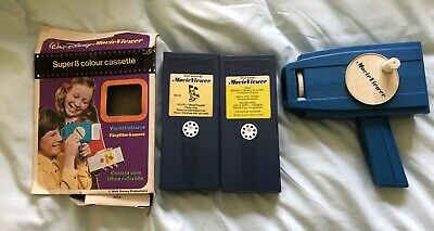 Vintage Mettoy Disney Movie Viewer & 2 Cassettes