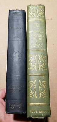 2 Decorative Old Rare Antique Hardcover Books Chance & Concert Guide Early 1900s